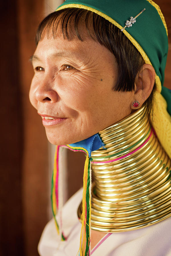 Portrait Of Woman From Long Neck Photograph by Hadynyah