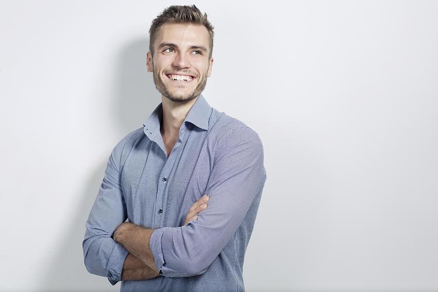 Portrait of young businessman Photograph by Philipp Nemenz