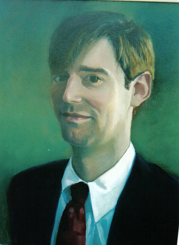 Portrait Painting - Portrait of young man...  by John L Campbell