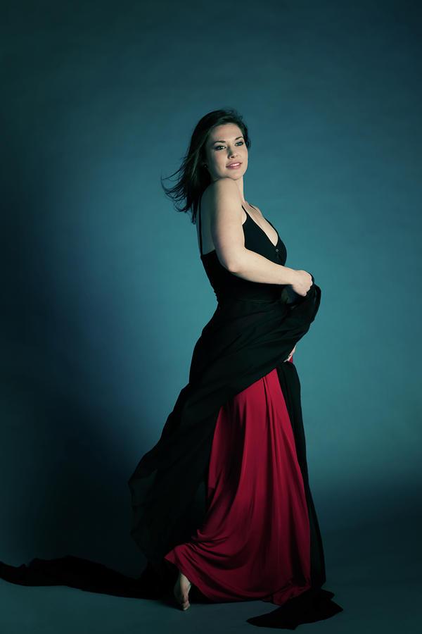 Portrait Of Young Woman Dancing Photograph by Pamela Mullins/pam3la Art & Photography