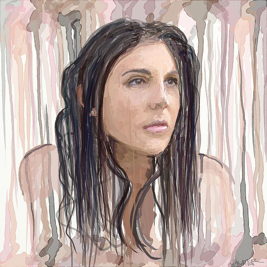 Portrait Painting - Portrait Painting - Natalie by Robert Wheater