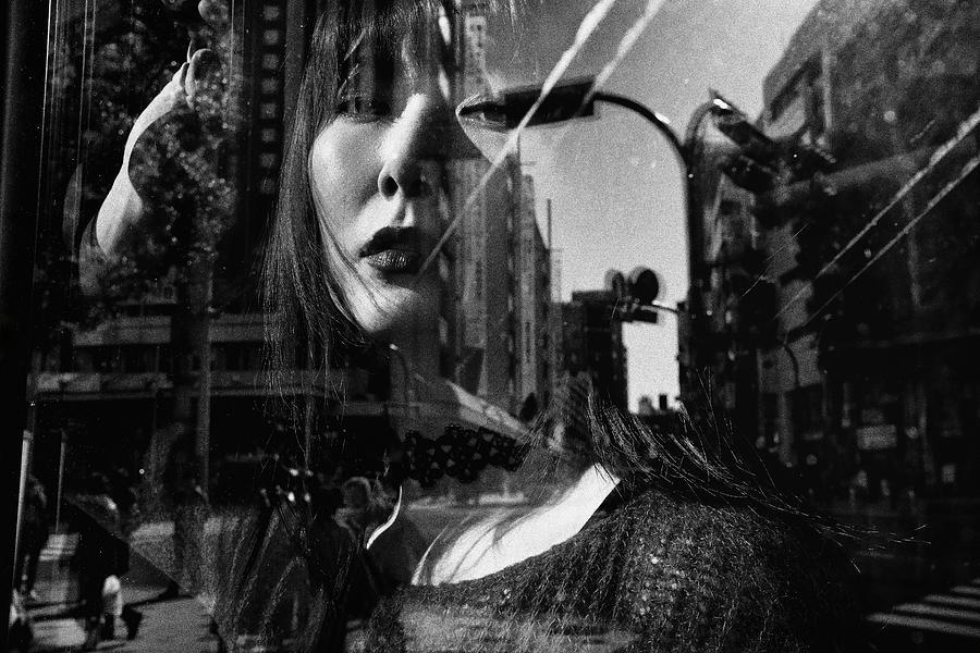 Double Exposure Photograph - Portrait by Tatsuo Suzuki
