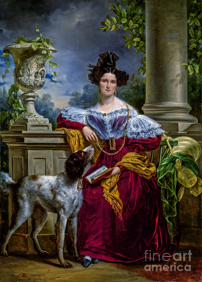 Portret Van Alida Christina Assink 1833 Painting