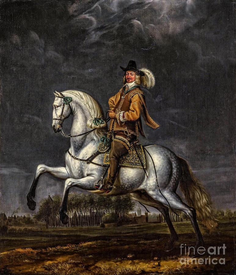 Horse Painting - Portret van Johan Wolphert van Brederode  by Viktor Birkus