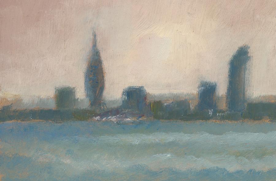 Portsmouth Dawn Part Four Painting by Alan Daysh