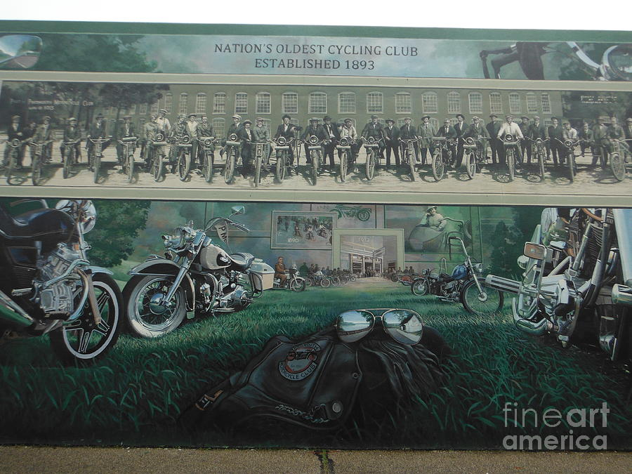 Motorcycle Mural Photograph   Portsmouth Flood Wall Murals 1 By Paddy  Shaffer Part 64