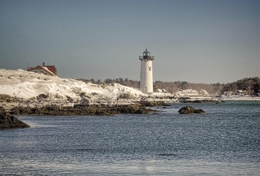 Light House Photograph - Portsmouth Harbor Light House by Diana Nault