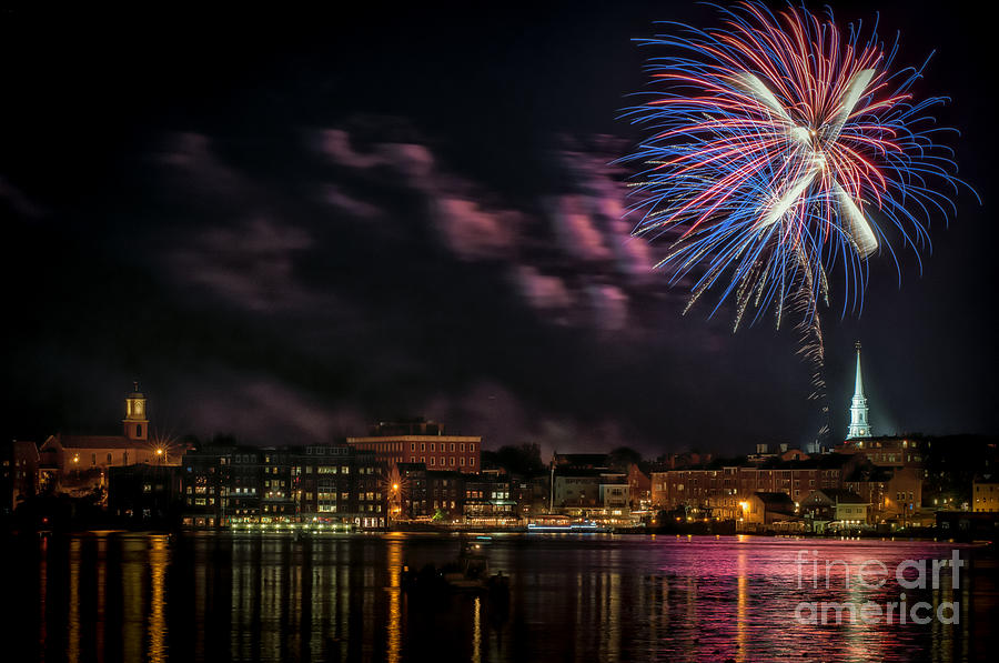 Portsmouth Photograph - Portsmouth Nh Fireworks 2013 by Scott Thorp