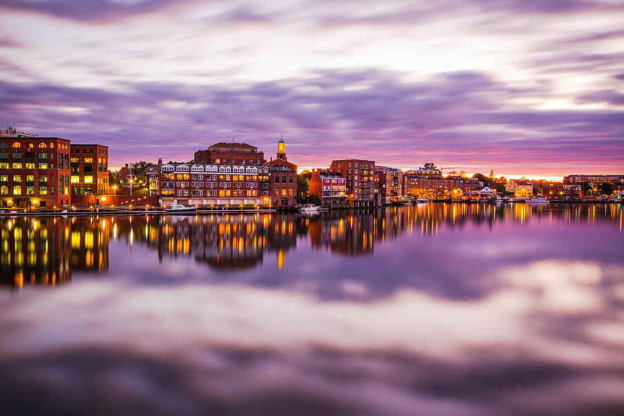 Memorial Bridge Photograph - Portsmouth Waterfront by Robert Clifford