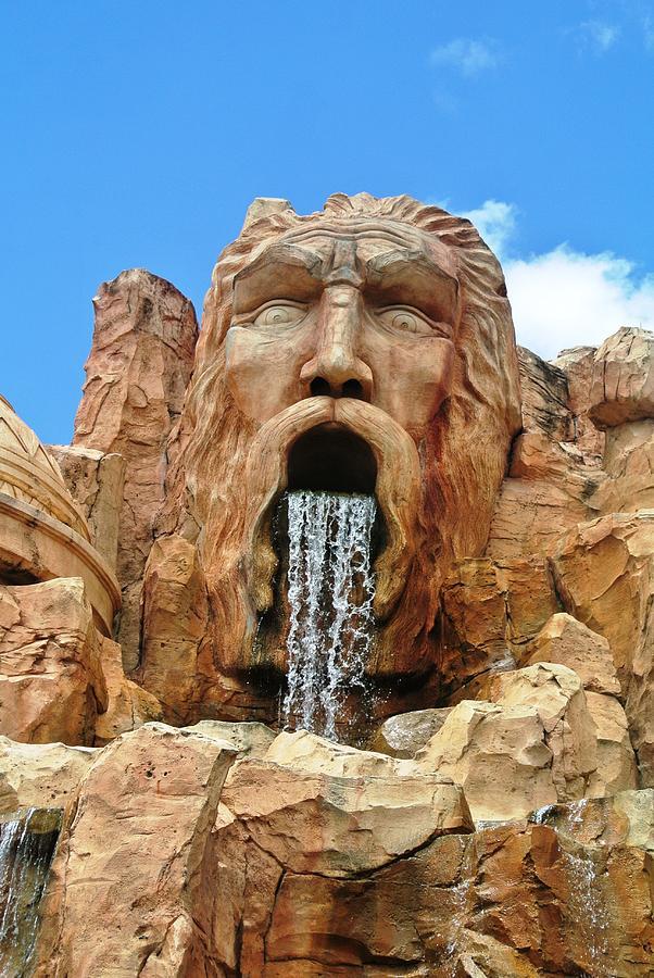 Universal Studios Photograph - Poseidon Rocks Universal Studios Orlando by Larry Stolle