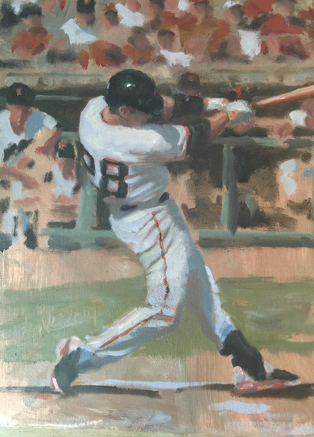 Buster Posey Painting - Posey Shot by Darren Kerr
