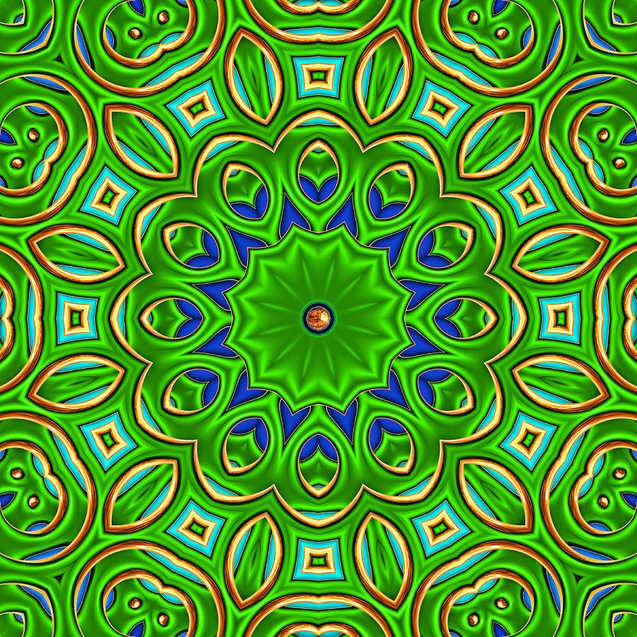 Kaleidoscope Digital Art - Posh by Wendy J St Christopher