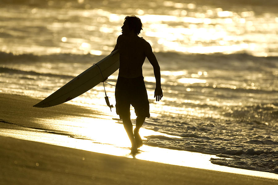 Surf Photograph - Post Surf Gold by Sean Davey