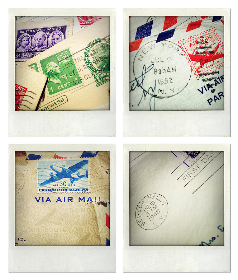 Stamp Photograph - Postal Still Life by Les Cunliffe