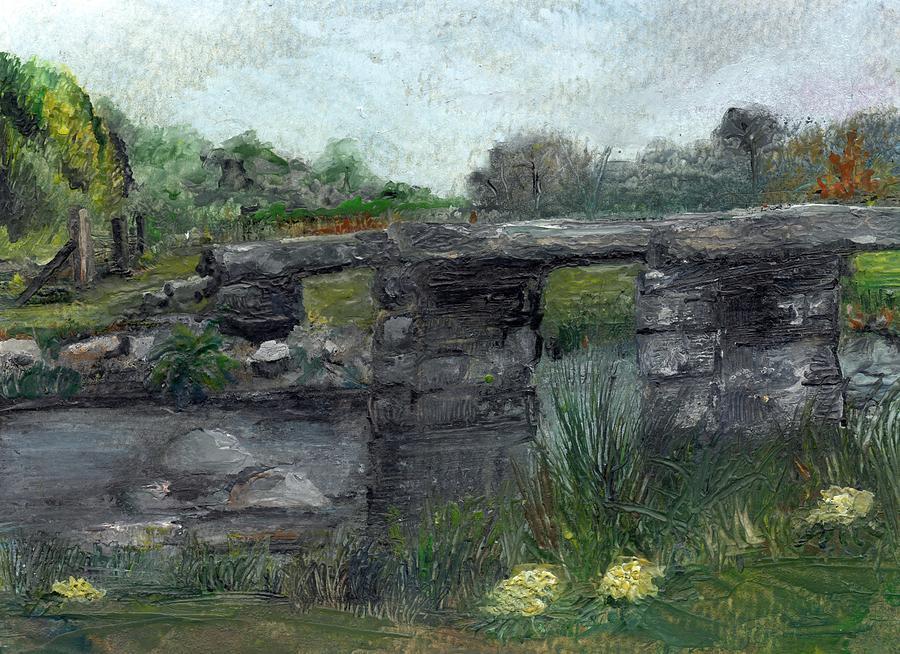 Dartmoor Painting - Postbridge Dartmoor by Carol Rowland