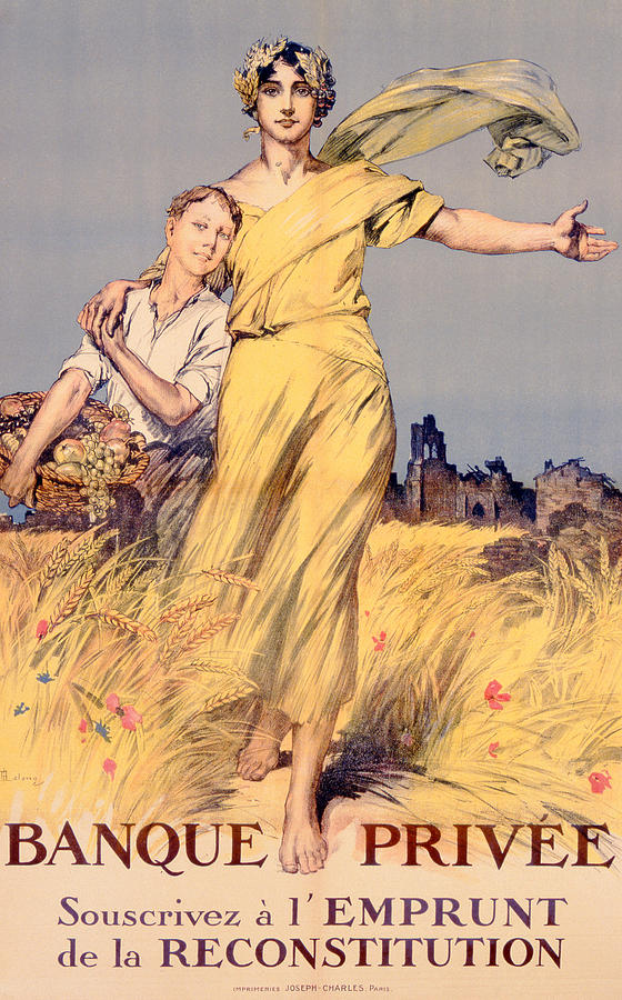 World War One Painting - Poster Advertising The National Loan by Rene Lelong