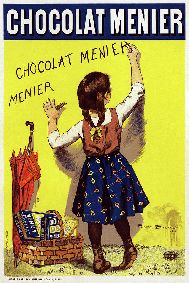 1893 Drawing - Poster Chocolate, 1893 by Granger