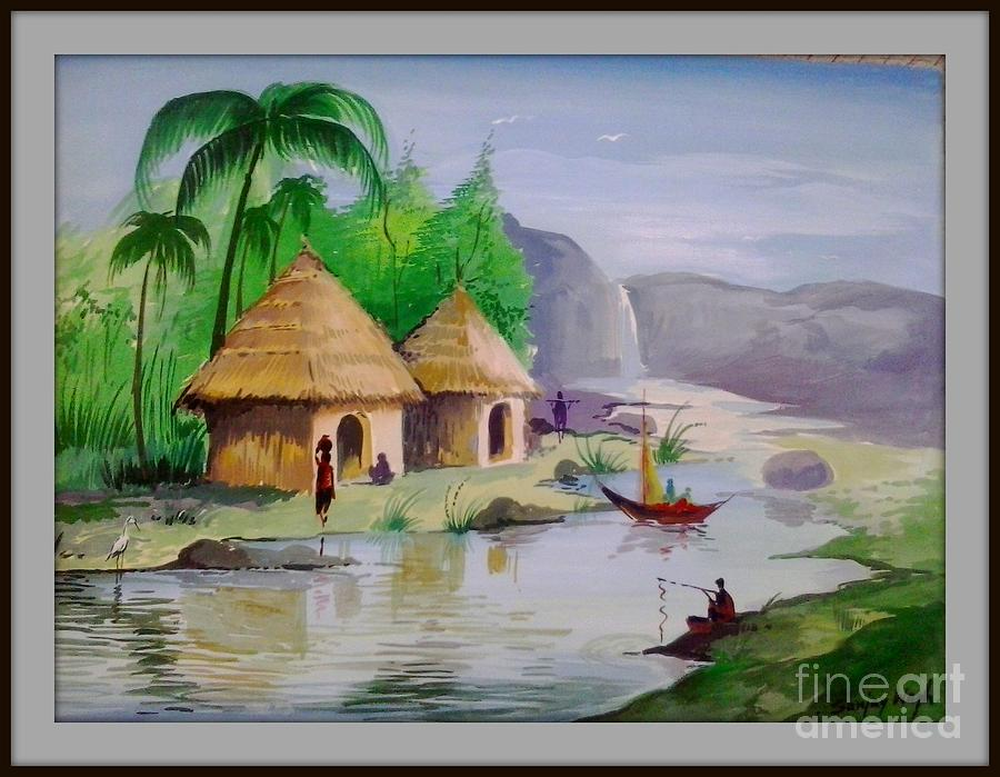 nature poster colour painting painting by sanjay wagh. Black Bedroom Furniture Sets. Home Design Ideas