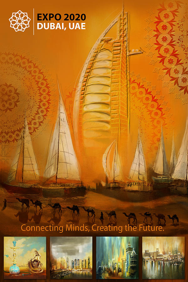Poster Dubai Expo 3 Painting By Corporate Art Task Force