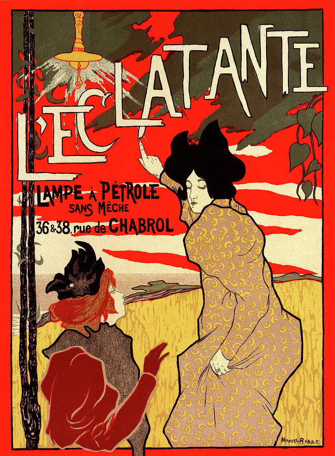 Poster For La Lampe A Petrole Leclatante Drawing By Liszt Collection