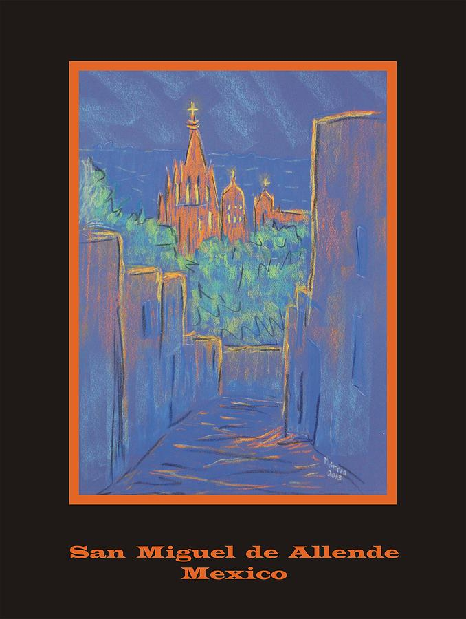 Blue Pastel - Poster - Lower San Miguel De Allende by Marcia Meade