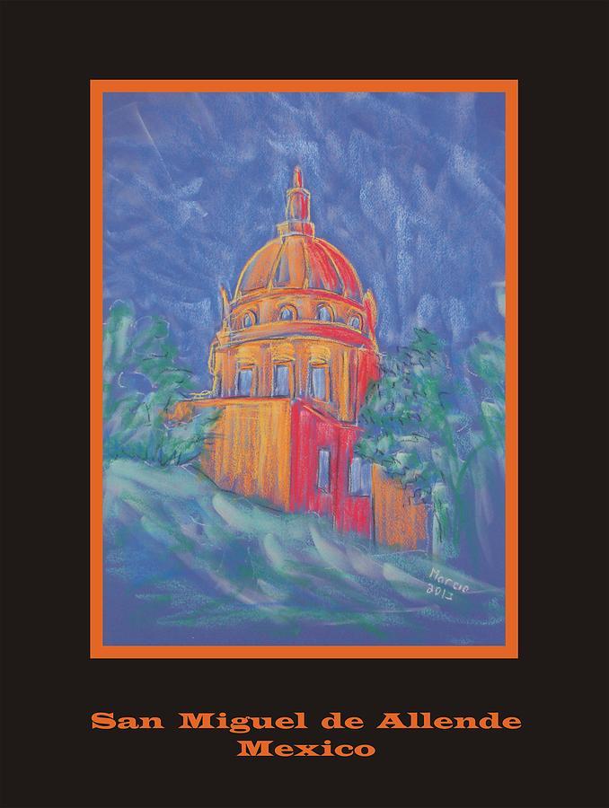 San Miguel De Allende Pastel - Poster - The Basilica by Marcia Meade