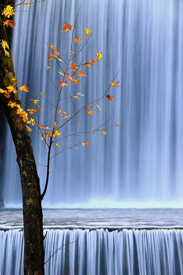 Waterfall Photograph - Postlude by Mary Kay