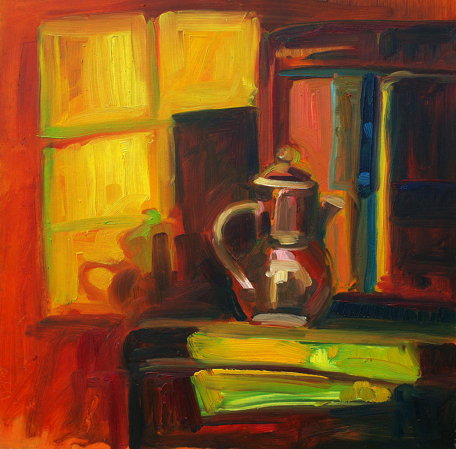 Still Life Painting - pot by Magdalena Mirowicz