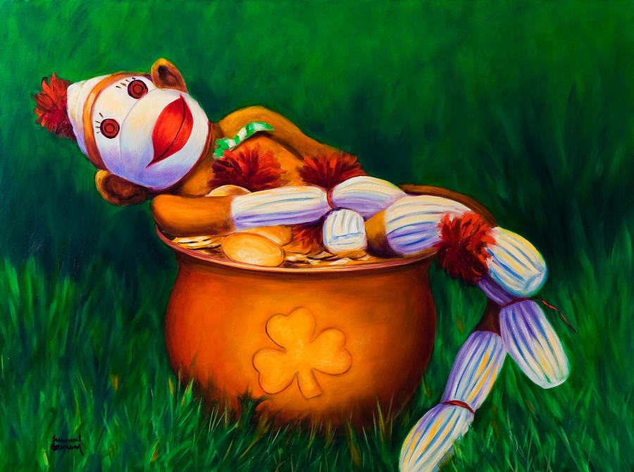 St. Patrick's Day Painting - Pot O Gold by Shannon Grissom