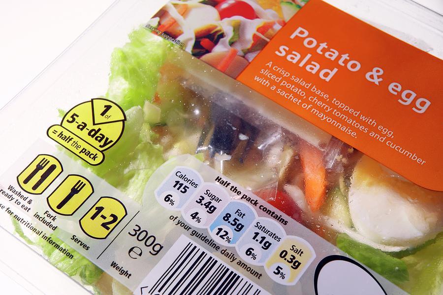 Food Photograph - Potato And Egg Salad by Mark Sykes