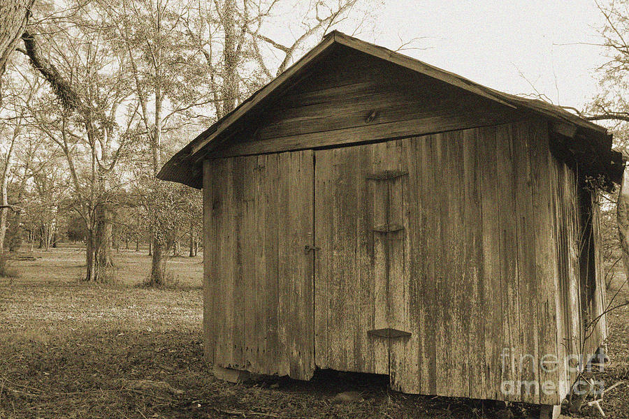Shed Photograph - Potato Shed by Russell Christie