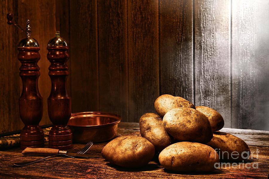 Potatoes Photograph - Potatoes by Olivier Le Queinec