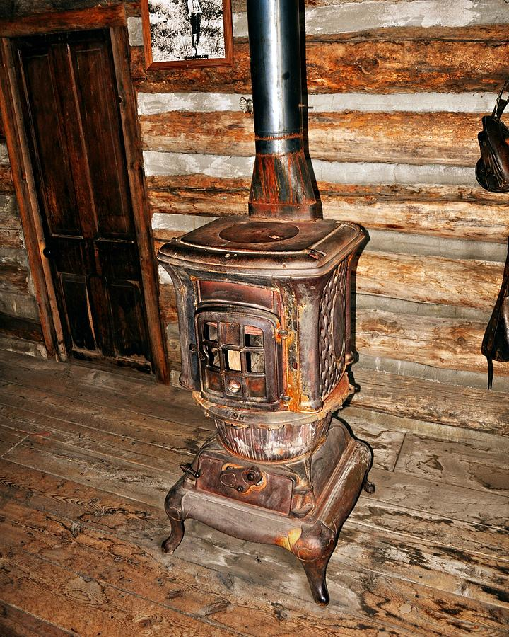 Rustic Photograph - Potbelly Stove by Marty Koch
