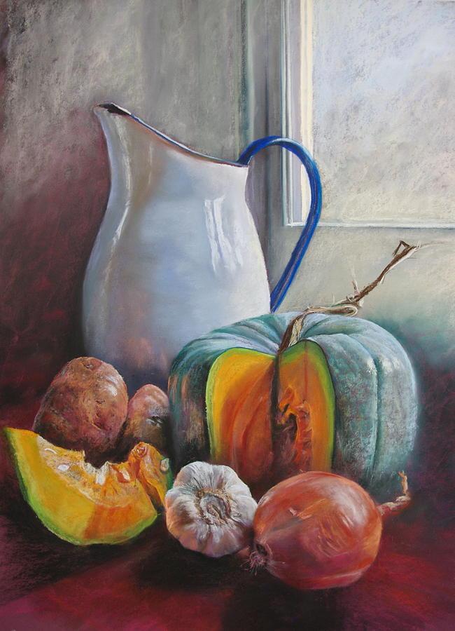 Lynda Robinson Painting - Potential Pumpkin Soup by Lynda Robinson