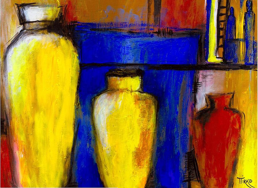 Jars Painting - Poteries Au Marche De Javea by Mirko Gallery
