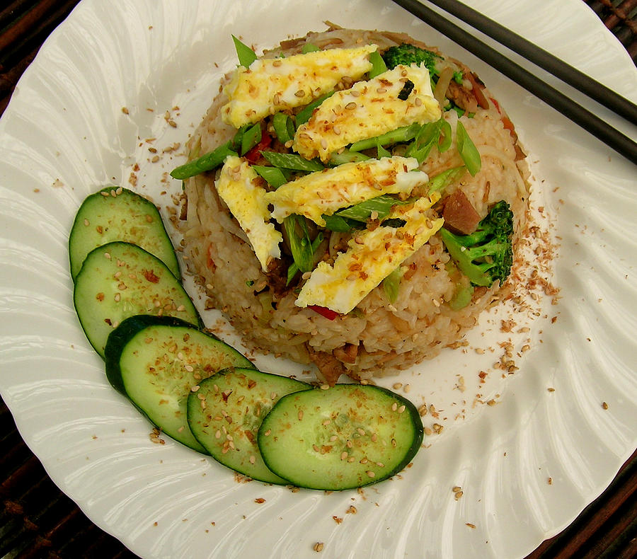 Fried Rice Photograph - Potluck Fried Rice by James Temple