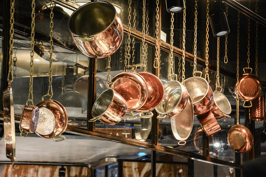 Display Photograph - Pots And Pans by Priyanka Ravi