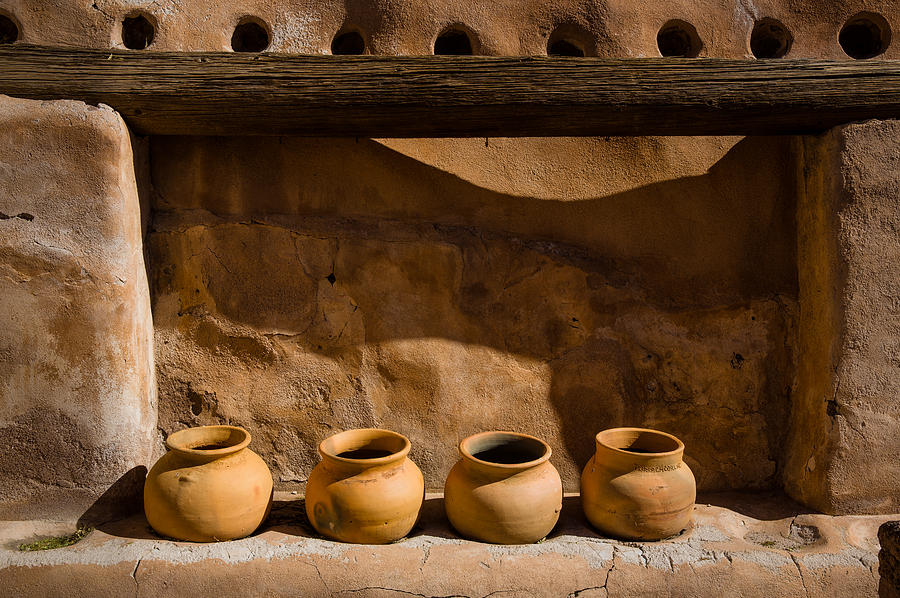 America Photograph - Pots in the Mission by Mark Hammon