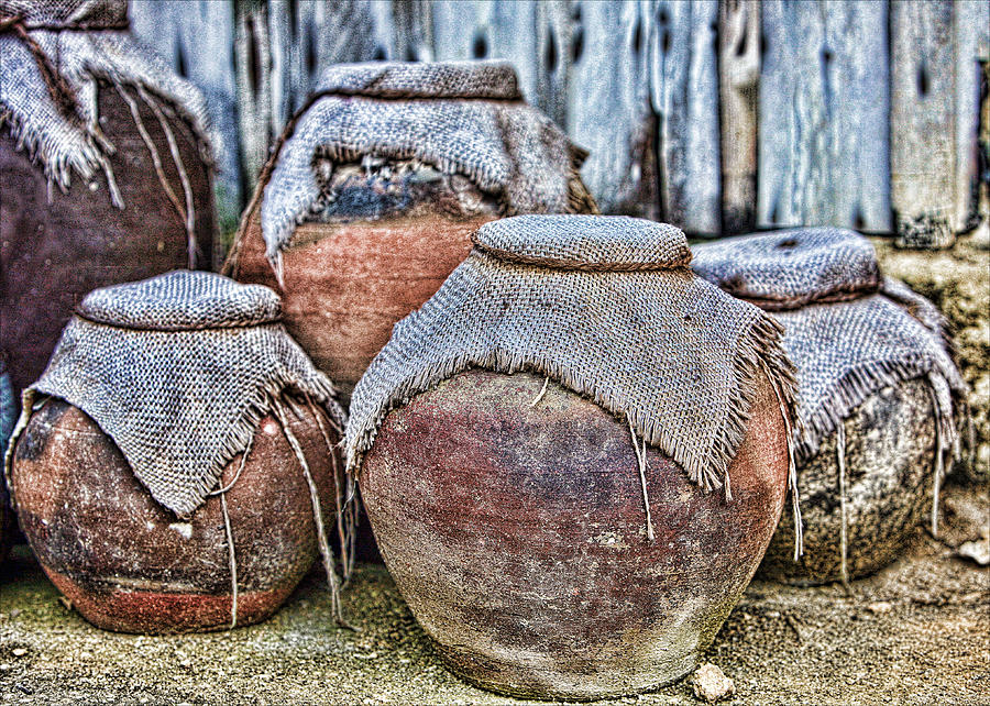 Clay Photograph - Pots by Karen Walzer