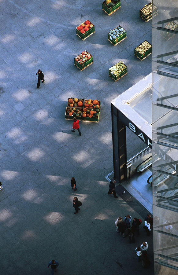 Potsdamer Platz Vegetable Stands In Photograph by Thomas Winz