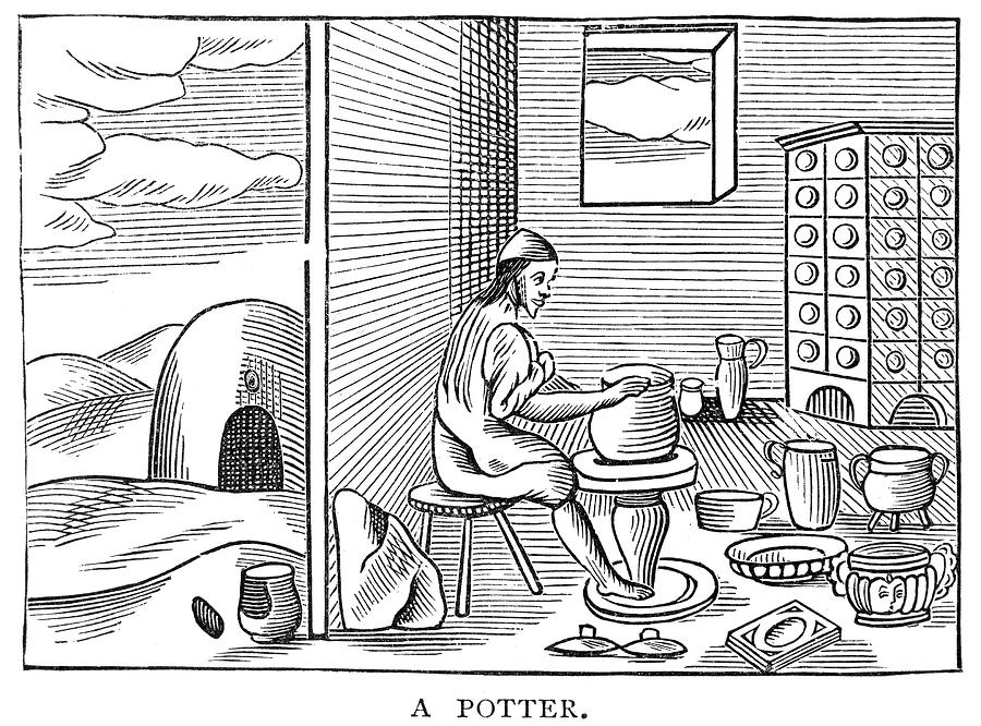 1659 Drawing - Potter, 1659 by Granger