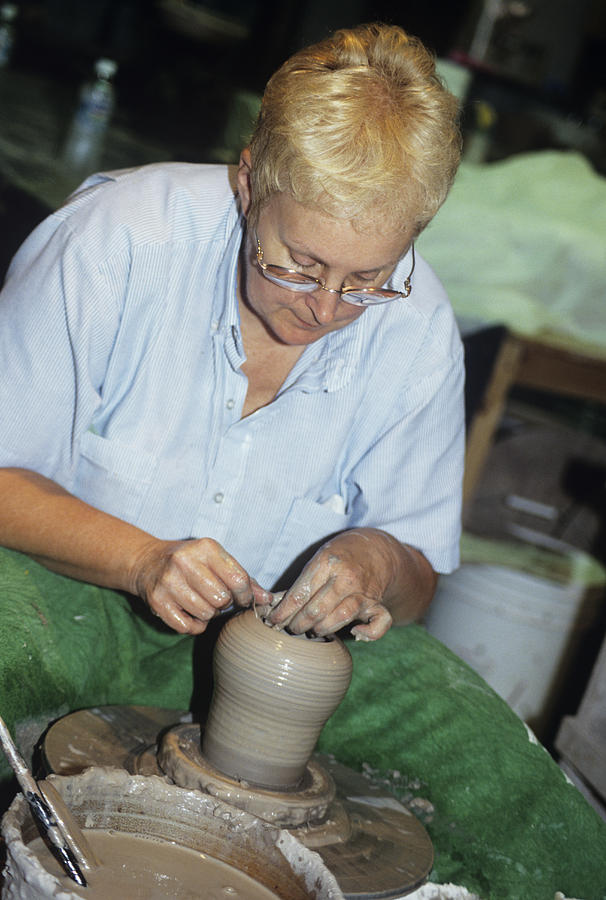 Equipment Photograph - Potter by Sally Mccrae Kuyper/science Photo Library