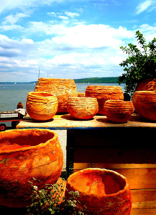 Bavaria Photograph - Pottery Market Diessen by The Creative Minds Art and Photography