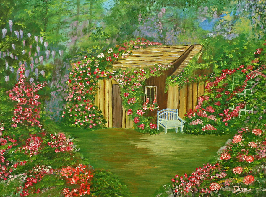 Painting Painting - Potting Shed by Dina Jacobs