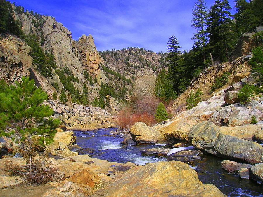 Colorado Photograph - Poudre Canyon by Bob Beardsley