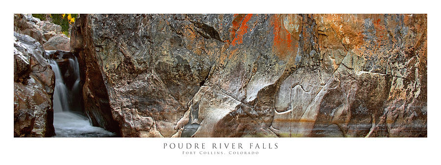 Colorado Photograph - Poudre River Falls Fort Collins by Posters of Colorado