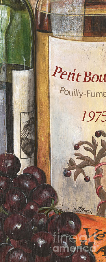 Red Grapes Painting - Pouilly Fume 1975 by Debbie DeWitt