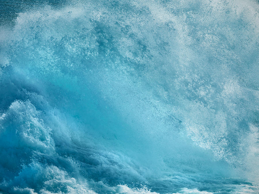 Azure Photograph - Pounding Waves by Leland D Howard