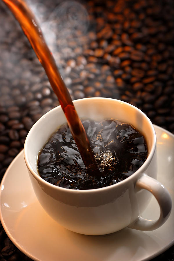 Aroma Photograph - Pouring Coffee by Johan Swanepoel