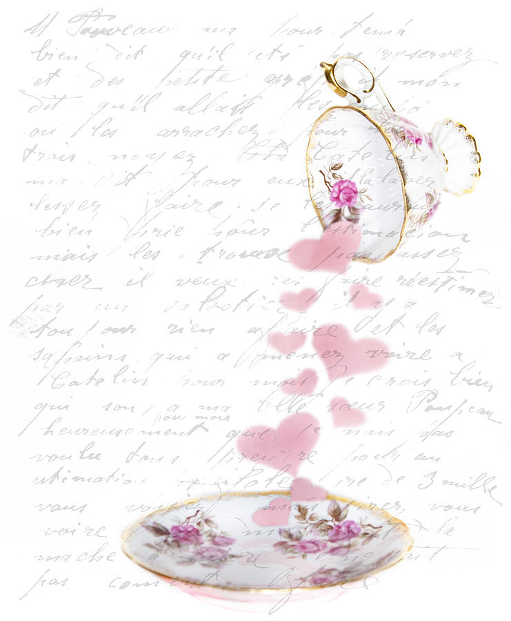 Hearts Photograph - Pouring My Heart Out by Rebecca Cozart